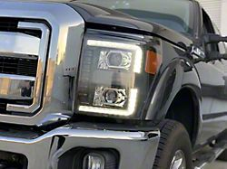 PRO-Series Projector Headlights; Chrome Housing; Clear Lens (11-16 F-250/F-350 Super Duty)