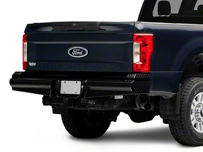 Barricade HD Rear Bumper in Textured Black for F-250 and F-350 Super Duty 2011-2016