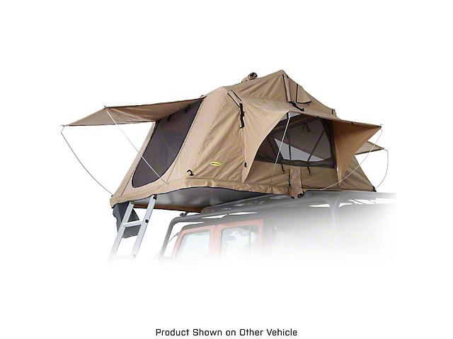 Smittybilt Overlander Roof Top Tent; Coyote Tan (Universal Fitment)