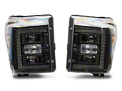 Morimoto XB Hybrid LED Headlights; Black Housing; Smoked Lens (11-16 F-250/F-350 Super Duty)