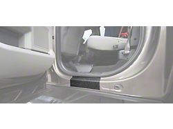 Rear Door Sill Protection with Super Duty Logo; TUF-LINER Black; Black and Dark Gray (17-22 F-250/F-350 Super Duty SuperCrew)