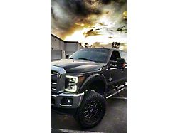 LUXX-Series LED Projector Headlights; Chrome Housing; Clear Lens (11-16 F-250/F-350 Super Duty)