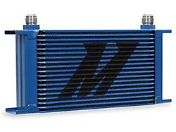 Mishimoto Universal 19-Row Oil Cooler; Blue (Universal; Some Adaptation May Be Required)