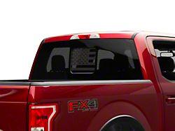 SEC10 Middle Window American Flag Decal; Matte Black (11-22 F-250/F-350 Super Duty)