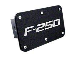 F-250 Class III Hitch Cover; Rugged Black (Universal; Some Adaptation May Be Required)