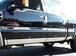 Rocker Panel Trim, Lower Kit; 10 Piece; Stainless Steel (11-16 F-250/F-350 Super Duty SuperCab w/ 8-Foot Bed)