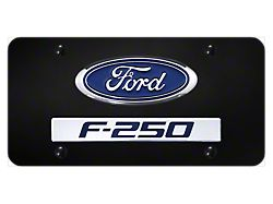 Dual Ford-F250 License Plate; Chrome (Universal; Some Adaptation May Be Required)