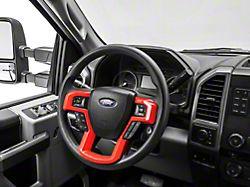 Alterum Steering Wheel Trim; Red (17-22 F-250/F-350 Super Duty)