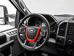 Alterum Steering Wheel Horn Trim; Red (17-22 F-250/F-350 Super Duty)