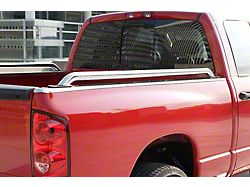 Side Bed Rails; Stainless Steel (17-22 F-250/F-350 Super Duty w/ 6-3/4-Foot Bed)
