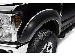 Bushwacker Extend-A-Fender Flares; Front; Matte Black (17-22 F-250/F-350 Super Duty)