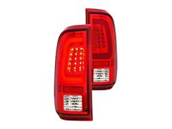 LED Tail Lights; Chrome Housing; Red/Clear Lens (11-16 F-250/F-350 Super Duty
