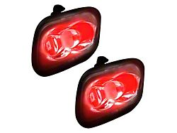 Ultra High Power LED Mirror/Puddle Light Kit; Red (15-20 F-150)