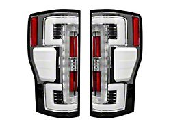 OLED Tail Lights; Chrome Housing; Clear Lens (17-19 F-250/F-350 Super Duty w/ Factory LED Tail Lights)