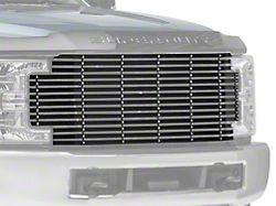 Stainless Steel Billet Upper Replacement Grille; Black (17-19 F-250/F-350 Super Duty w/o Forward Facing Camera)