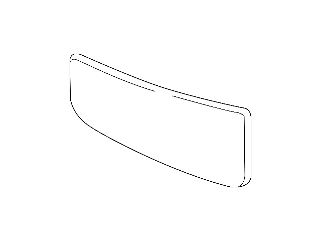 Ford Lower Towing Mirror Glass; Driver Side (17-21 F-250/F-350 Super Duty w/ Towing Mirror Turn Signals)