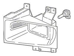 Ford Halogen Fog Light; Driver Side (17-22 F-250/F-350 Super Duty)
