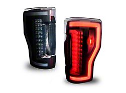 Renegade Series Sequential LED Tail Lights; Black Housing; Smoked Lens (17-19 F-250/F-350 Super Duty w/o Factory BLIS Tail Lights)