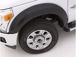 Fender Flare; Extra Wide Style; Front and Rear; Smooth Black Finish; 6.50 x 2-Inch; 4-Piece (07-13 Sierra 1500)