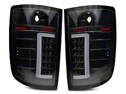 Axial C-Tube LED Tail Lights; Black Housing; Clear Lens (07-13 Sierra 1500)