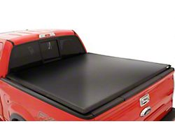 Tonneau Cover; Genesis Tri-Fold; Black Leather Look; Vinyl; Excluding Beds with RamBox Cargo Management (02-18 RAM 1500 with 6.4-Foot Box)