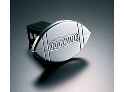 Football Hitch Cover; Polished (Universal; Some Adaptation May Be Required)