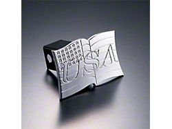 USA Flag Hitch Cover; Polished (Universal; Some Adaptation May Be Required)