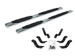 5-Inch 1000 Series Cab Length Side Step Bars; Stainless Steel (99-06 Sierra 1500 Extended Cab)