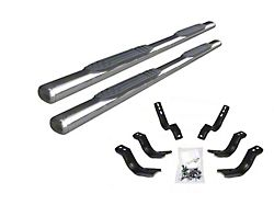 4-Inch 1000 Series Cab Length Side Step Bars; Stainless Steel (07-13 Silverado 1500 Crew Cab)