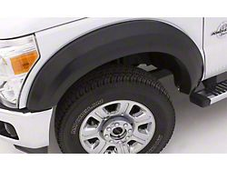 Fender Flare; Extra Wide Style; Front; Smooth Black Finish; 4.25 x 2.50-Inch; 2-Piece (07-13 Silverado 1500)