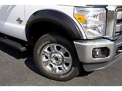 Fender Flare; Extra Wide Style; Front and Rear; Textured Black Finish; 4.25 x 2.50-Inch; 4-Piece (07-13 Silverado 1500)