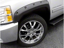 Fender Flare; Rivet Style; Front and Rear; Textured Black Finish; 5 x 2-Inch; 4-Piece (07-13 Silverado 1500)