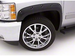 Fender Flare; Rivet Style; Front and Rear; Textured Black Finish; 5 x 2-Inch; 4-Piece (16-18 Silverado 1500)