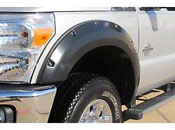 Fender Flare; Rivet Style; Front; Textured Black Finish; 6.75 x 2.25-Inch; 2-Piece (11-16 F-250 Super Duty)
