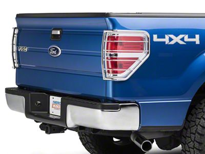 Modern Billet Tail Light Guards - Stainless Steel (09-14 F-150 Styleside, Excluding Raptor)