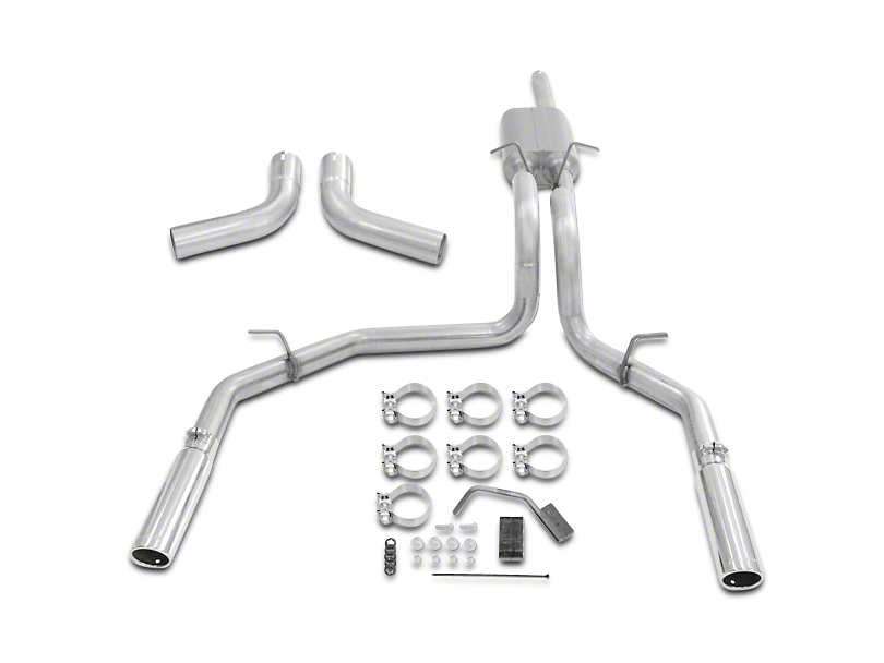 Flowmaster Force II Stainless Steel Cat-Back Exhaust - Split Side/Rear Exit (98-03 4.6L)