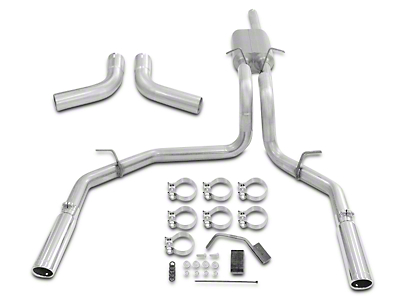 Flowmaster Force II Stainless Steel Dual Exhaust System - Side/Rear Exit (98-03 4.6L)