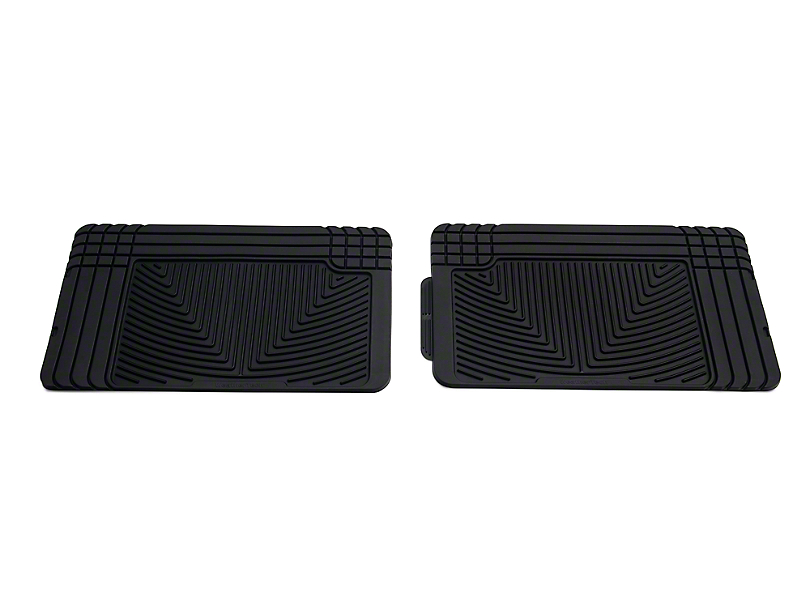 Weathertech All Weather Rear Rubber Floor Mats - Black (97-08 SuperCab, SuperCrew)