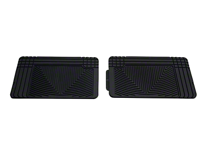 Weathertech All Weather Rear Rubber Floor Mats - Black (97-08 F-150 SuperCab, SuperCrew)