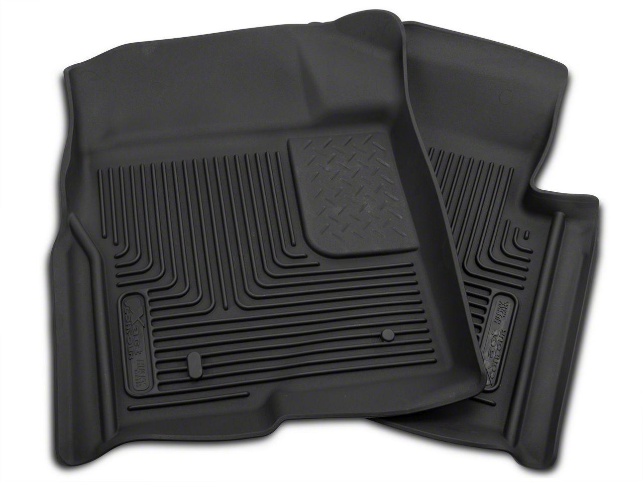 Husky X-Act Contour Front Floor Liners - Black (09-14 F-150)