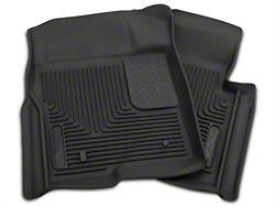 Husky X-Act Contour Front Floor Liners; Black (09-14 F-150)