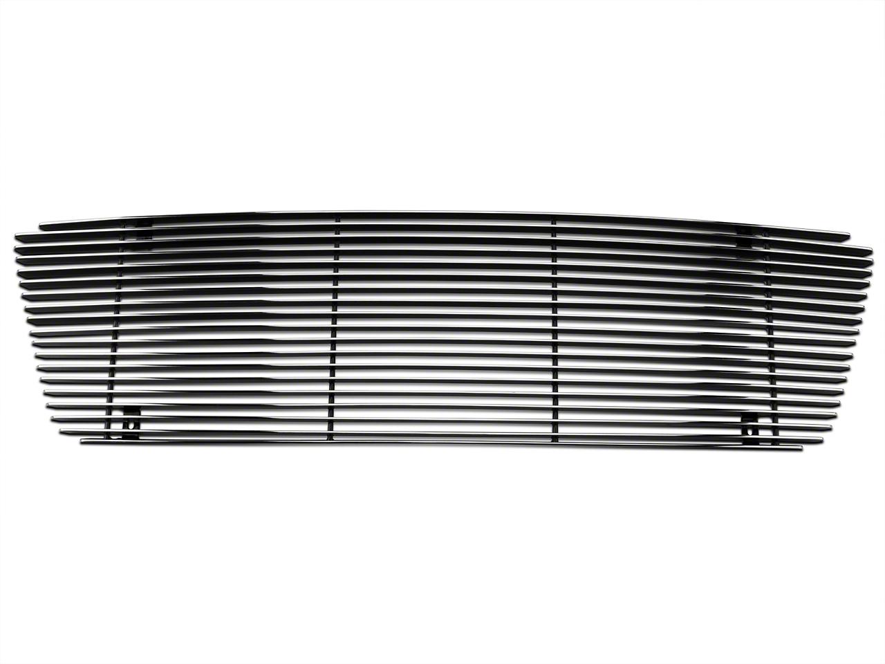 Modern Billet Upper Overlay Grille w/ Emblem Delete - Polished (04-08 XL, XLT, Lariat)