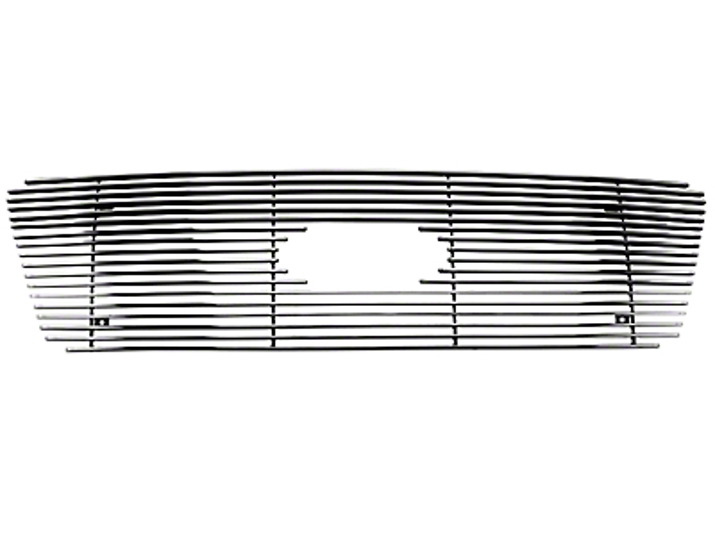 Modern Billet Upper Overlay Grille w/ Emblem Cutout - Polished (04-08 F-150 XL, XLT, Lariat)