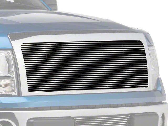 Modern Billet Upper Grille Insert w/ Emblem Delete - Polished (09-12 All, Excluding Harley Davidson, Platinum & Raptor)