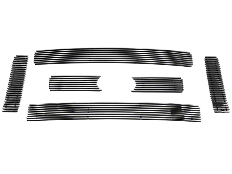 Modern Billet 6-Piece Upper Overlay Grille - Polished (09-12 F-150 Lariat, King Ranch)