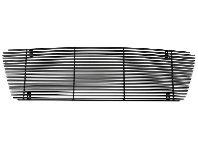Modern Billet Upper Overlay Grille w/ Emblem Delete - Black (04-08 F-150 XL, XLT, Lariat)