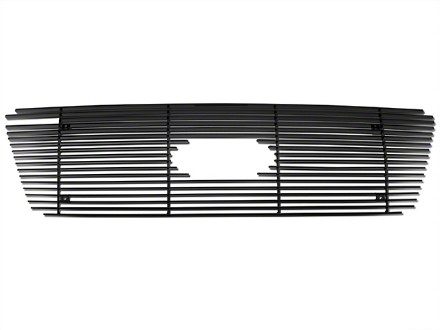 Modern Billet Upper Overlay Grille w/ Emblem Cutout - Black (04-08 F-150 XL, XLT, Lariat)