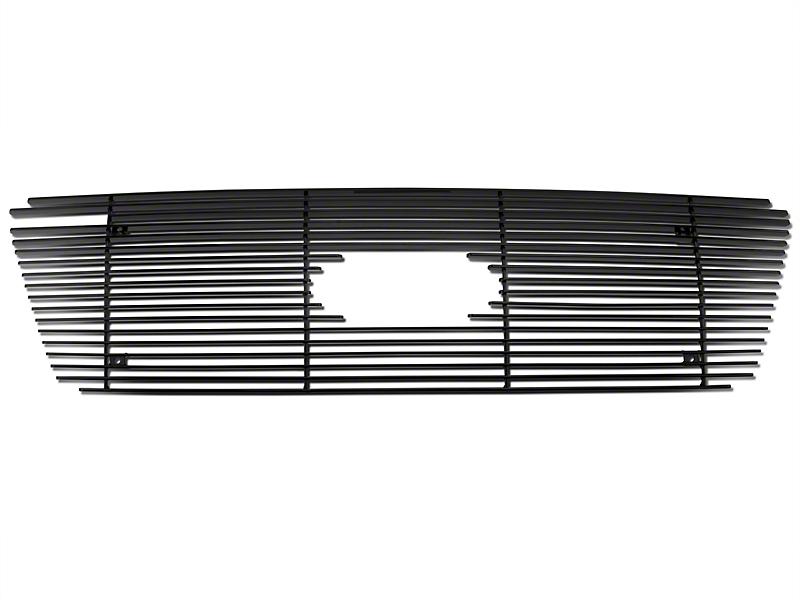Modern Billet Upper Overlay Grille w/ Emblem Cutout - Black (04-08 XL, XLT, Lariat)