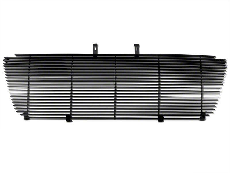 Upper Replacement Grille w/ Emblem Delete - Black (04-08 XL, XLT, Lariat)