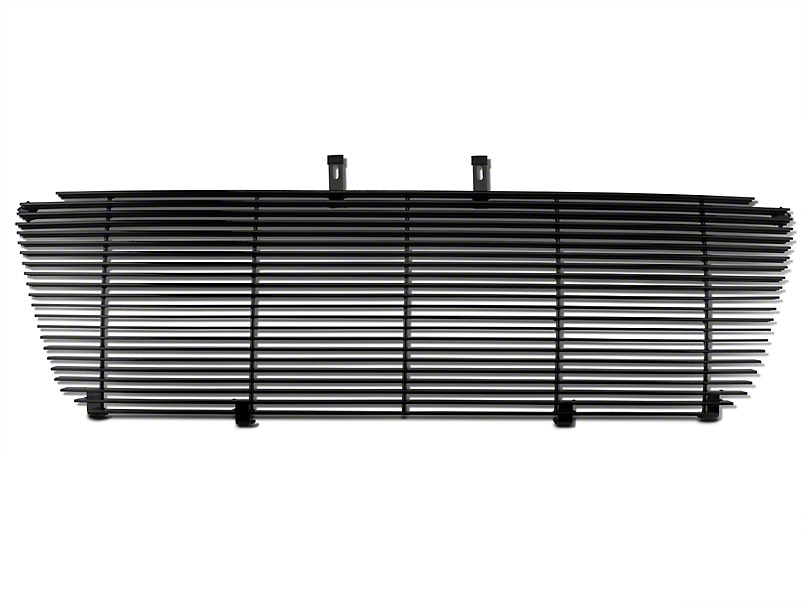 Modern Billet Upper Replacement Grille w/ Emblem Delete - Black (04-08 XL, XLT, Lariat)